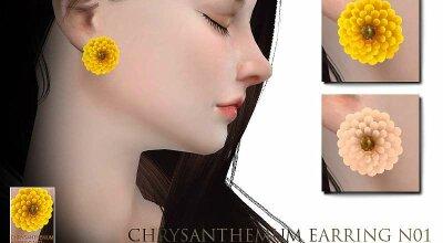 Серьги - хризантема