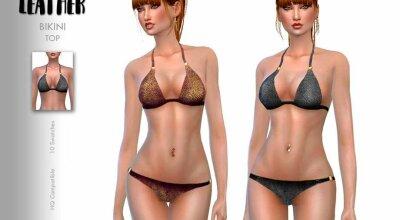 Топ Leather Bikini