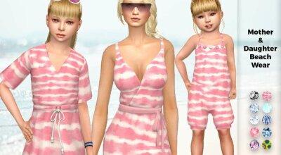 Пляжная одежда Mother & Daughter