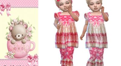 Розовый сет для девочек