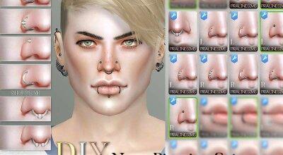 Набор пирсинга для носа