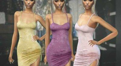 Бархатное платье N403
