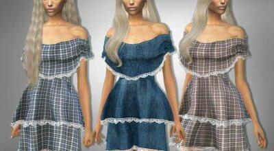 Платье без плечей 309