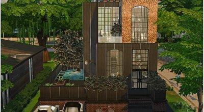 Современный дом Black Industrial